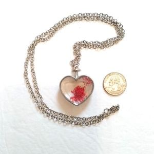Jewelry - Red dust crystal heart pendant